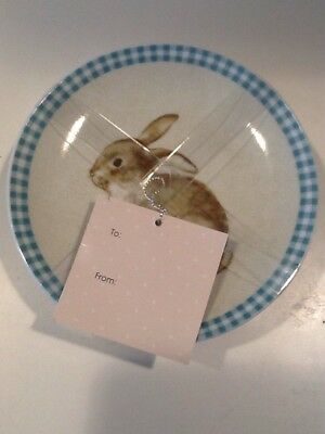 222fifth Bunny Land Easter 4 New With Pink Appetizer/dessert Plates