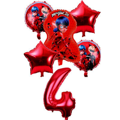 6pcs-Miraculous-Ladybug-foil-balloons-birthday-party-decorations-kids-party