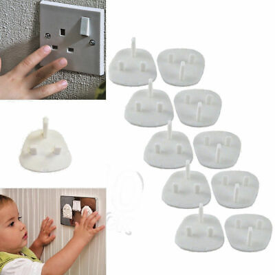 10 Baby Safety Socket Child UK Plug Covers Protector Guard Mains Electric Insert