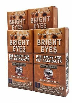 Dog Cataract Eye Drops Ethos Bright Eyes for Pets Four Boxes 40ml