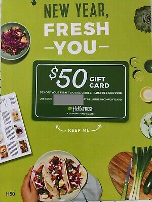 Hello Fresh $50 Gift Card  for first 2 deliveries