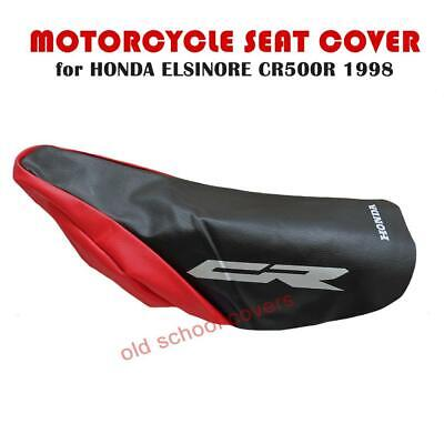 Honda Cr500 R Elsinore 1998 Red & Black Seat Cover With White Logos