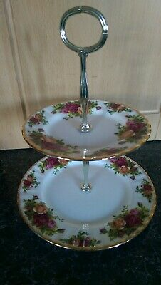 Royal Albert Old Country Roses Two Tier Cake Stand