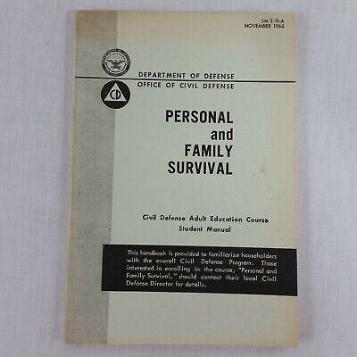 1966 Civil Defense Student Manual Handbook Fallout Shelter Cold War Booklet 60s