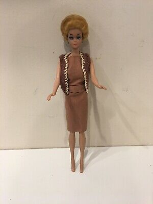 1958 Blonde Bubble Cut Barbie Doll ~ Vintage 1962 Midge ~  W/ Clothes