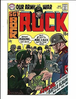 OUR ARMY at WAR # 224 (Sgt Rock, High Grade, OCT 1970), VF/VF+