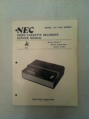 NEC Nippon Electric Company VC-7200 VCR Original Shop Service Manual Schematics
