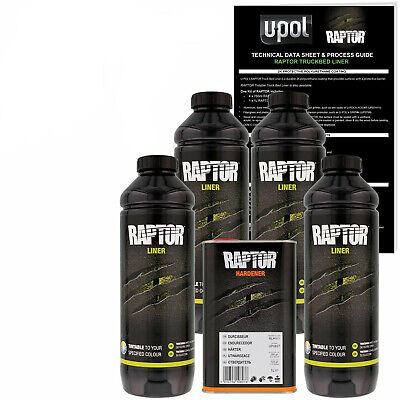 U-POL Raptor Black Urethane Spray-On Truck Bed Liner Kit