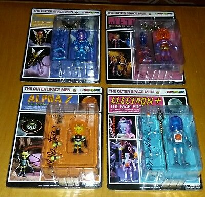 2011 Outer Space Men Cosmic Series 3 NYCC Signed Set   (1st issues) Colorforms