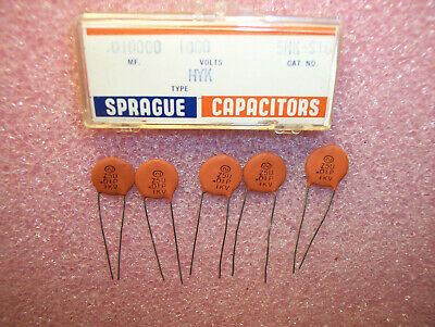 50 QTY 5GAQ33 SPRAGUE 33pf 1000V 1KV U2J RADIAL CERAMIC DISC   FREE SHIP