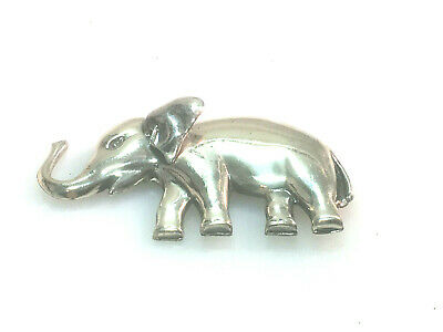 Jewelry & Watches Sterling Silver 925 Vintage Mexican Puffed Large Elephant Brooch Pin Tm-145
