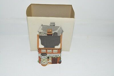 Mint Condition !Dept 56 Dickens Village Series GEO WEETON WATCHMAKER  5926-9