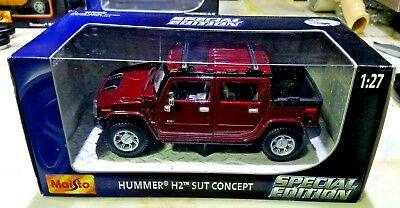 Maisto Special Edition HUMMER H2 SUT CONCEPT MAROON 1:27 Scale die cast