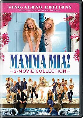 Mamma Mia + Here We Go Again 1-2 Collection Sing Along 2 Movie DVD Box Set New