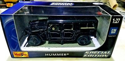 Maisto Special Edition Collection HUMMER Station Wagon BLACK 1:27 Scale RARE