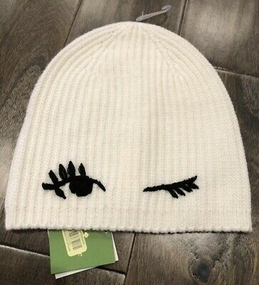 3dc954cce NEW KATE SPADE Winking Beanie Black White NWT FREE Shipping - $24.99 ...