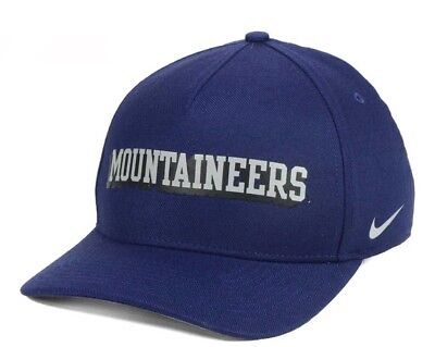 outlet store e674f ab457 Brand New West Virginia Mountaineers Nike Local DNA Verbiage Swoosh OSFM Hat  Cap