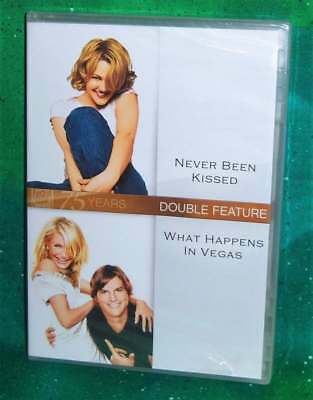 New Never Been Kissed & What Happens In Vegas Double Feature Comedy Movie Dvd