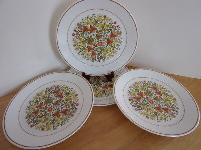 4 Corelle Corning Dinner Plates Indian Summer