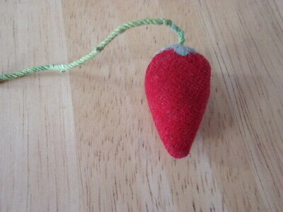 Vintage Strawberry Sewing Velvet Pin Cushion