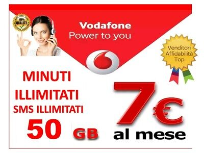 Passa a Vodafone Special 50gb minuti illimitati  7€ x VIRTUALI .. NO HO MOBILE