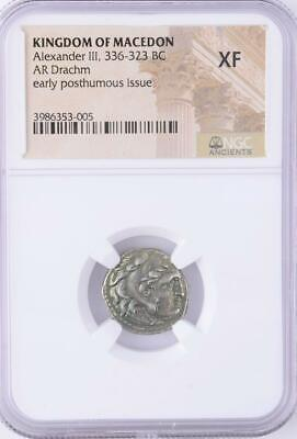 Beautiful NGC XF (Exremely Fine) Ancient Alexander the Great Silver Drachm Coin