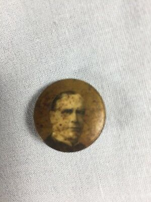Antique President McKinley Pin Back Pinback Button 1896 Presidential Authentic