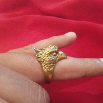 EXTREMELY RARE Ancient RING VIKING BRONZE EAGLE RING artifact VERY Stunning