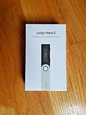 BRAND NEW Ledger Nano S Hardware Wallet FACTORY SEALED! Bitcoin Ethereum Ripple
