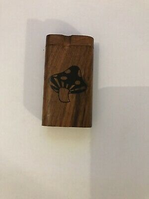 Dugout / One Hitter Exotic Wood Slide Top With Aluminum Cigarette Shroom