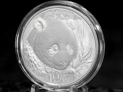 2018 China 10Y Panda 30grams .999 Silver, No Reserve & Free Shipping