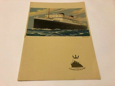 18x24 1939 RMS Queen Mary Oceanliner Vintage Cunard Line Travel Poster