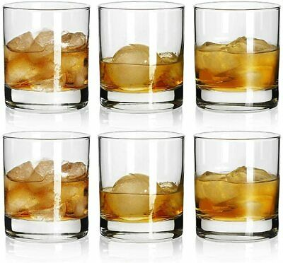 Soiree Double Old Fashioned Whiskey Glasses Set of 6 Glassware Beverage