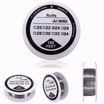 100 ft A1 Silver Resistance Wire 24 Gauge AWG For Vape Coil 0.51mm Craft Kit