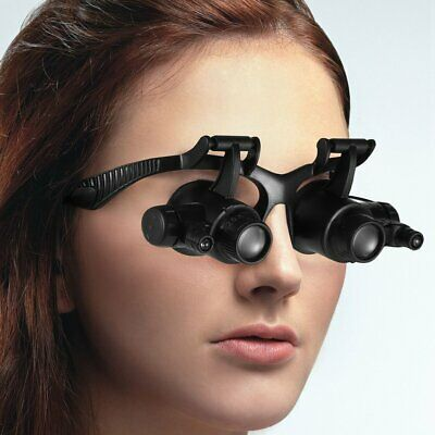 10/15/20/25X LED Magnifier Magnifying Eye Glass Loupe Jeweler Watch Repair Kit A
