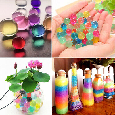 100PC Water Plant Flower Jelly Crystal Soil Mud Water Pearls Gel Beads Balls Hot