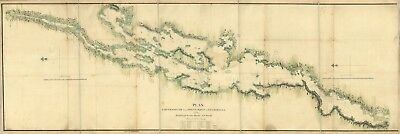 A4 Reprint of Lakes And Rivers Map Champlain