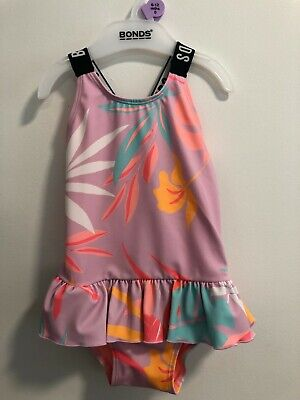 Bonds Baby Swimsuit Nwt Pink Tropics Unisex All Sizes