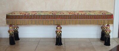 Vintage Mackenzie Childs Limited Large Bench, 1990s
