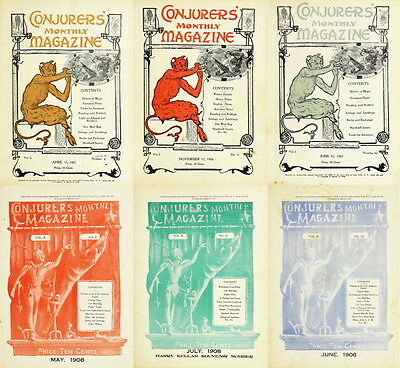 24 RARE ISSUES Of CONJURERS MONTHLY MAGAZINE (1906-1908) MAGIC, CONJURING ON DVD