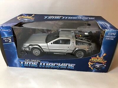 Welly DeLorean Time Machine Back To The Future 1:24 Diecast Car