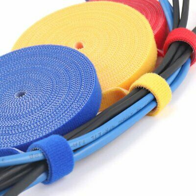 Plastic Nylon Cable Manager Winder Cable Clip Ties Belting Velcro Strap Velcro A
