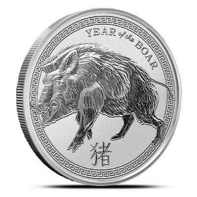 """2019 """"YEAR OF THE BOAR""""  from Provident 1 oz. .999 Fine SILVER Round"""