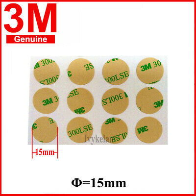 3M 300lse Super Stick Double Sided clear Tape Pads Mounting Adhesive 15mm Discs