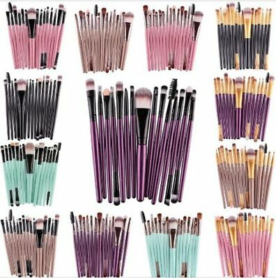 MAANGE Pro 15Pcs Eye Shadow Foundation Eyebrow Eyeliner Eyelash Brush Makeup 7