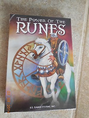 POWER OF THE RUNES TAROT DECK CARDS Oracle Divination Self-Help NEW CAT RESCUE