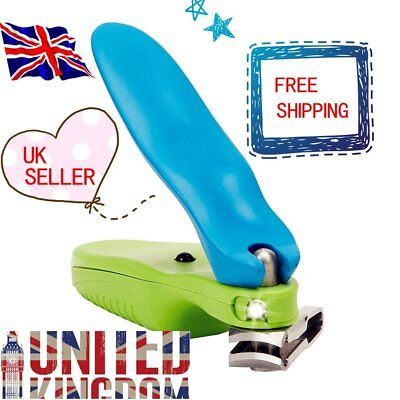 LED Touch Large Toe Nail Clippers Cutters Trimmer Nipper Finger with Ligh LD⊥