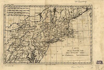 A4 Reprint of North American Map Northern