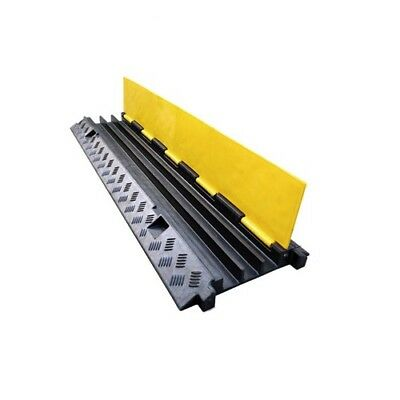 1m Cable Cover Guard Protector Ramp Tray Rubber Guards 3 channel 5t load