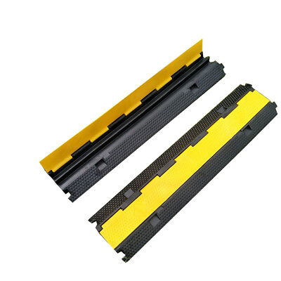 2 Channel 1m 5t load Cable Guard Cable Cover Protector Ramp Heavy Duty Rubber